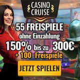 55 Freispiele plus 150% Bonus